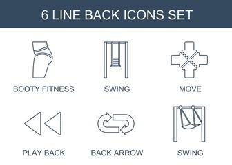 back icons