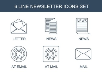 6 newsletter icons
