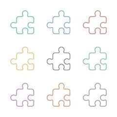 puzzle icon white background