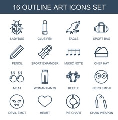 16 art icons