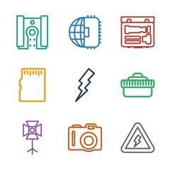 9 flash icons