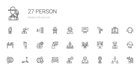 person icons set