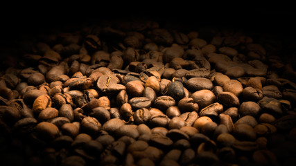 Coffe beans textured