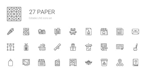 paper icons set
