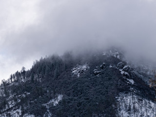 Light snowfall on Camp Fire Effected Area