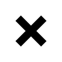 X mark icon on white background