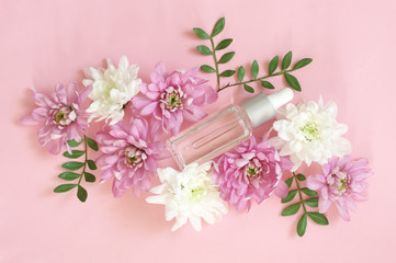 Natural organic cosmetics in flowers