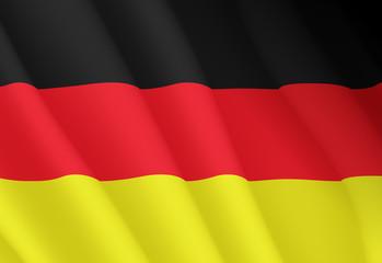 Illustration of a flying German flag