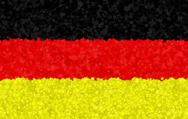 Graphic illustration of a German flag with a flower pattern