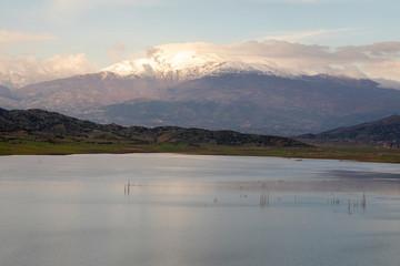 Landscape ,Lake and Mountain