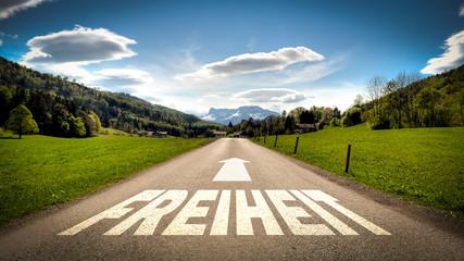 Fototapete - Schild 401 - Freiheit