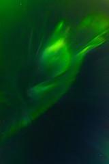 Crown Aurora borealis in the sky.Vertical.