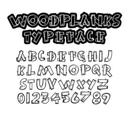 Wood Planks Font