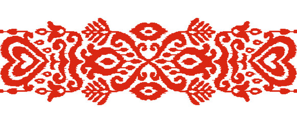 Ikat Ethnic Vector Seamless Stripe Ornament