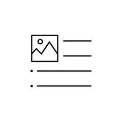 align, image, left, text icon. Element of text and typography for mobile concept and web apps icon. Thin line icon for website design and development