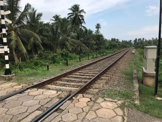 Railway in Countryside in Sri Lanka