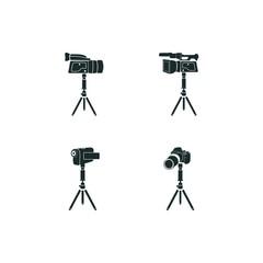 4 tripod icon set