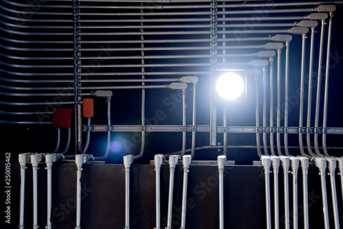 Remarkable Up View Of Abstract Steel Pipes For Wiring In Buildings Stock Photo Wiring Cloud Toolfoxcilixyz