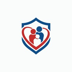 family protection logo, simple and easy to remember