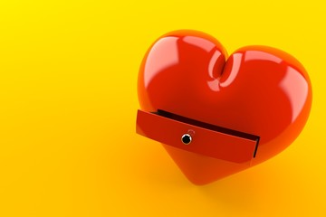 Heart with drawer