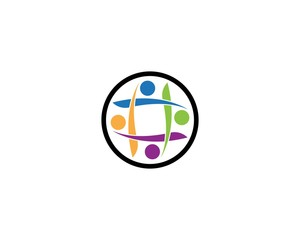 Community care health logo template