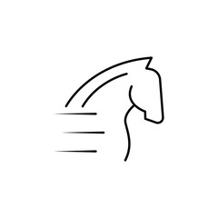 speed horse icon. Element of speed for mobile concept and web apps illustration. Thin line icon for website design and development, app development. Premium icon