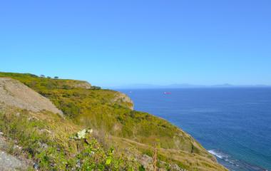 Sea, cliff, day