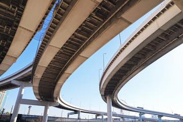【ジャンクションカーブ】首都高速道路の有明ジャンクション