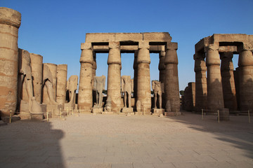Egypt Luxor temple Pharaoh.