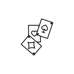 Magic card icon. Element of magic for mobile concept and web apps icon. Thin line icon for website design and development
