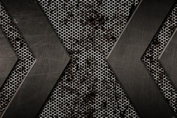 gray grunge metal background. pattern on metal plate Wall mural