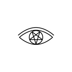 Eye, pentagram icon. Element of magic for mobile concept and web apps icon. Thin line icon for website design and development