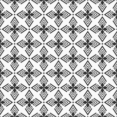 Abstract geometric seamless pattern. Regularly repeating ethnic geometric ornament.
