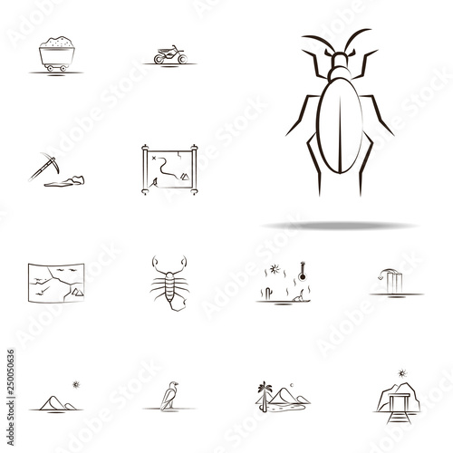 Desert Scorpion Icon Desert Icons Universal Set For Web And Mobile