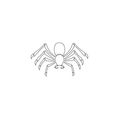 Spider. flat vector icon