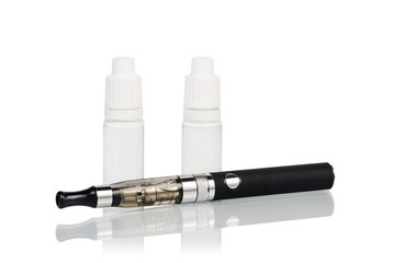 Electronic cigarette (vaping device) isolated on white background
