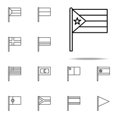 Puerto Rico icon. flags icons universal set for web and mobile