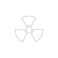 radiation. flat vector icon