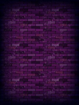 Purple rectangle brick wall