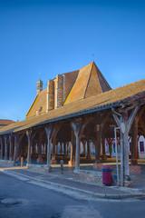 Les halles de Chatillon sur Chalaronne dans l'Ain