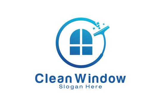 Clean Window Logo Design Template