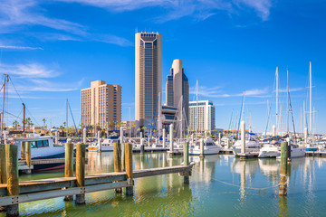 Wall Mural - Corpus Christi, Texas, USA skyline on the bay