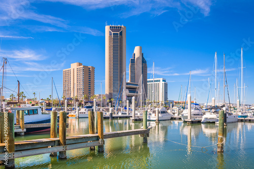 Fototapete Corpus Christi, Texas, USA skyline on the bay