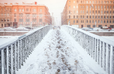 Kolomensky Bridge perspective