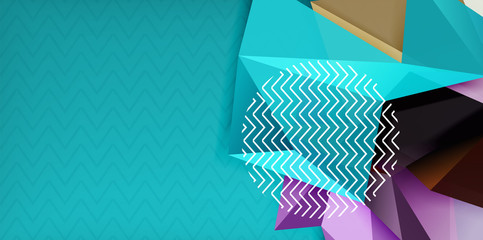 Triangular low poly background design