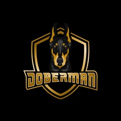Doberman dog amazing design for your company or brand