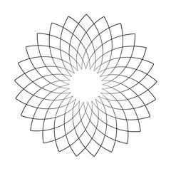 Circle design element. Abstract geometric pattern.