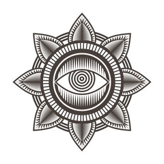 one eye mandala design vector illustration amazing design for your company or brand