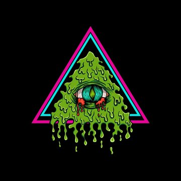 illuminati bleeding vector illustration