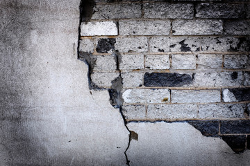 Wall Bricks and Cracked Plaster Textures Old